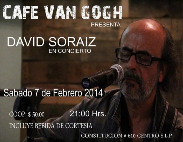 David Soraiz en concierto @ Café Van Gogh
