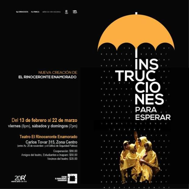 Instrucciones para esperar @ Teatro El Rinoceronte Enamorado  | San Luis Potosí | San Luis Potosí | México