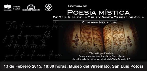 Lectura de poesía mística de San Juan de la Cruz y Santa Teresa de Ávila @ Museo del Virreinato | San Luis Potosí | San Luis Potosí | México