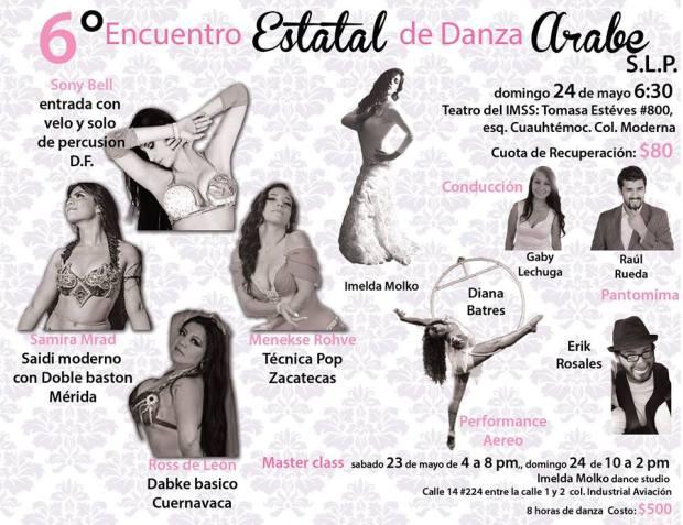 6°Encuentro Estatal de Danza Árabe San Luis Potosí @ Teatro del IMSS