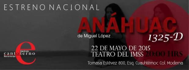 Anáhuac 1325-D @ Teatro del IMSS