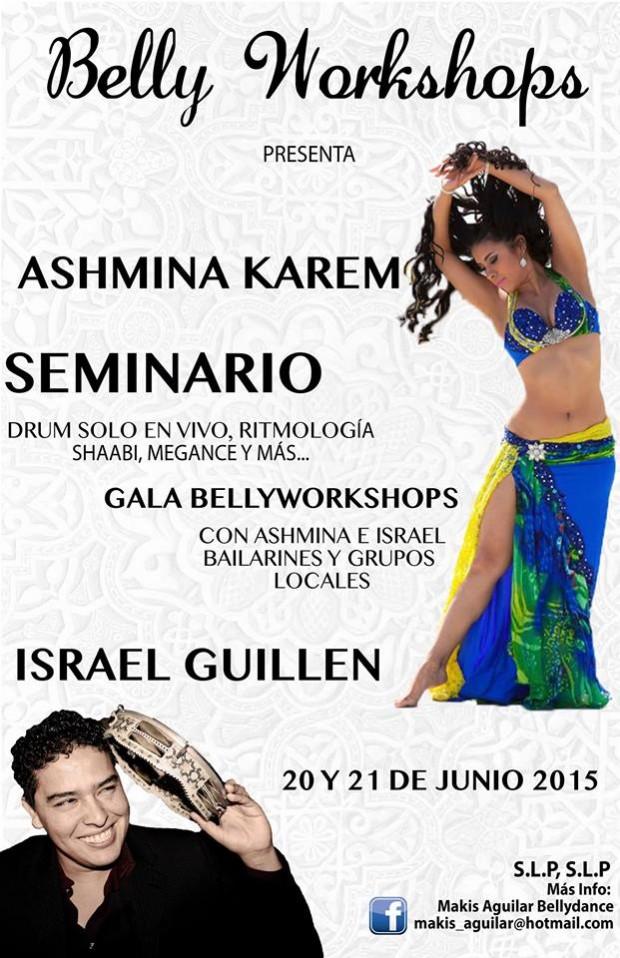 Bellyworkshops  Ashmina Karem e Israel Guillen en San Luis Potosí