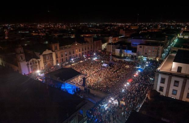 Plaza Fundadores concierto