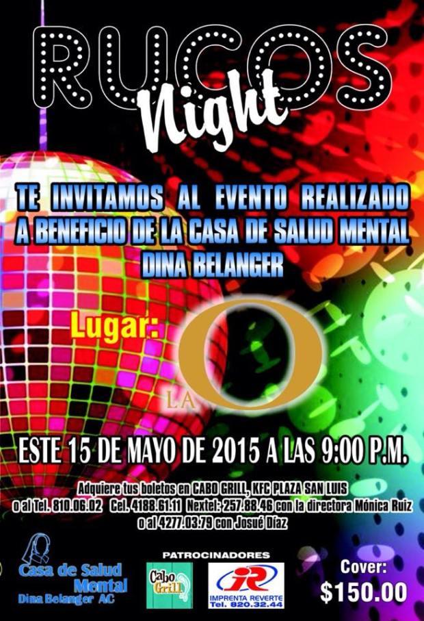 Rucos Night en beneficio de La Casa de Salud Mental Dina Belanger @ La O