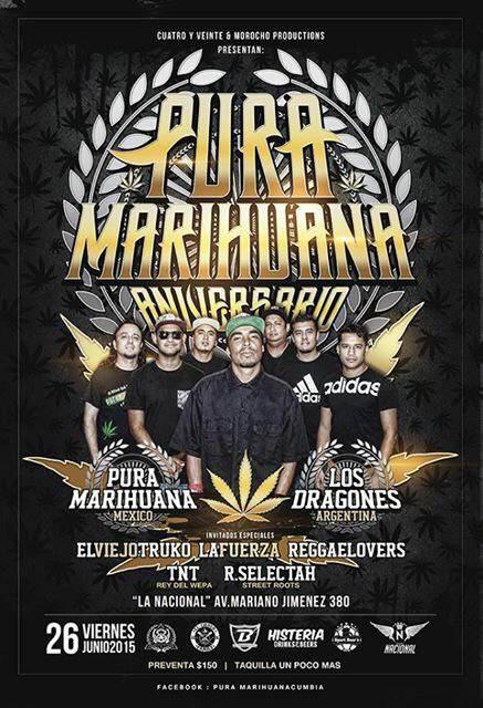 Aniversario de Pura Marihuana @ La Nacional | San Luis Potosí | San Luis Potosí | México