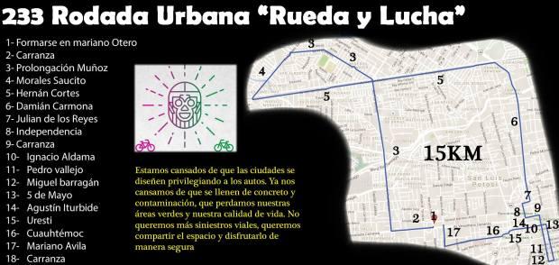 """233 Rodada Urbana """"Rueda y Lucha"""" @ Jardín de Tequisquiapan"""