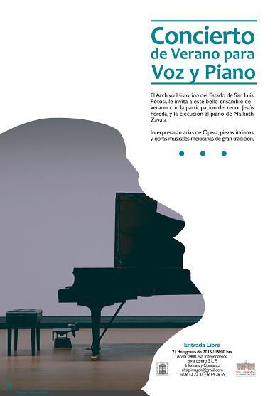 Concierto de verano para Voz y Piano @ Archivo Histórico del Estado