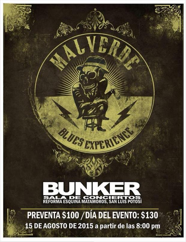 Malverde Blues Experience en San Luis Potosí @ Steel Metal Bunker