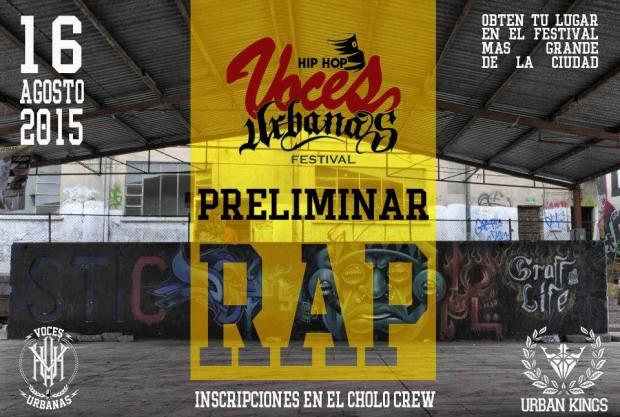 Convocatoria para batallas de Freestyle Festival Voces Urbanas 2015 @ Unidad Deportiva CREA