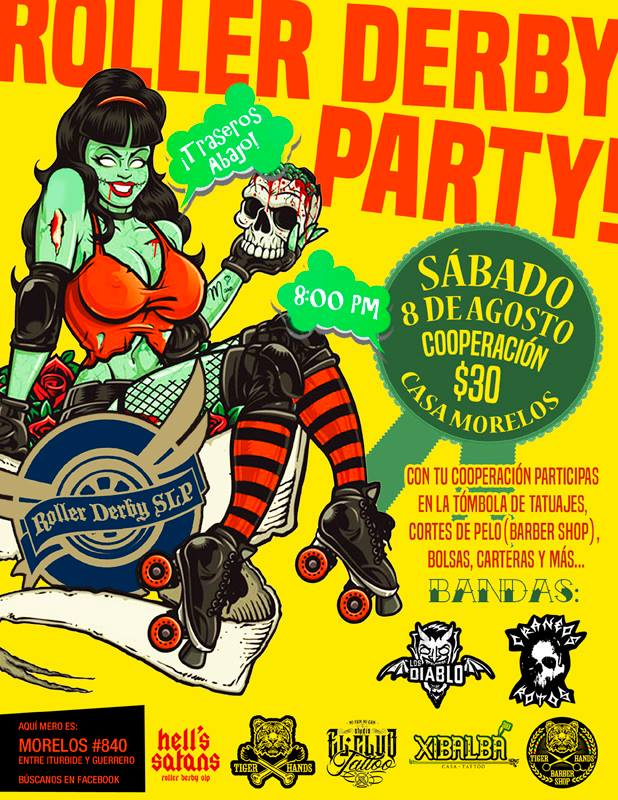 Roller Derby  Party @ Casa Morelos