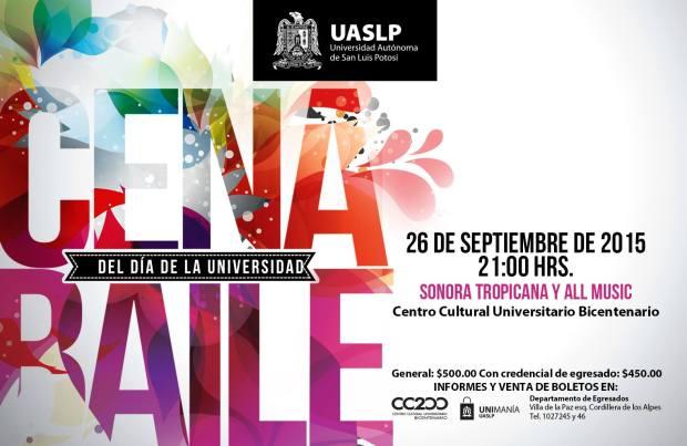 Cena Baile del Día de la Universidad @ Centro Cultural Universitario Bicentenario