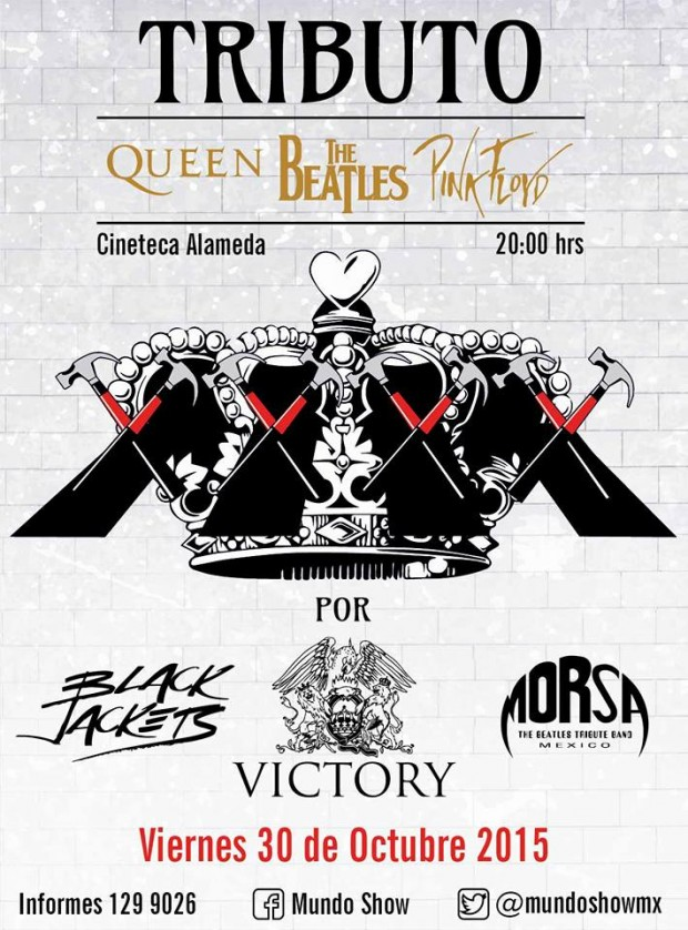 Tributo a Queen The Beatles y Pink Floyd