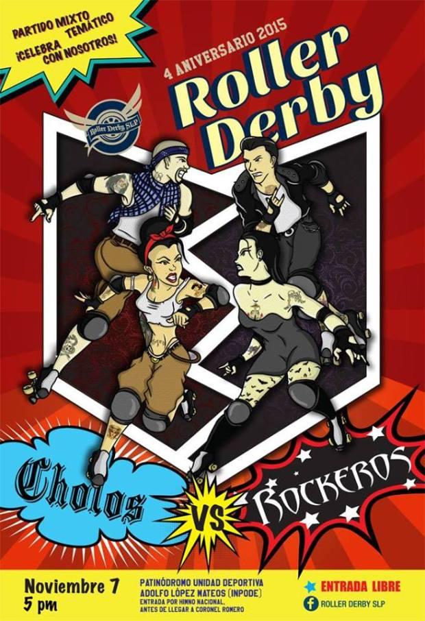 Cholos vs Rockeros (partido de roller derby) @ INPODE | San Luis Potosí | San Luis Potosí | México