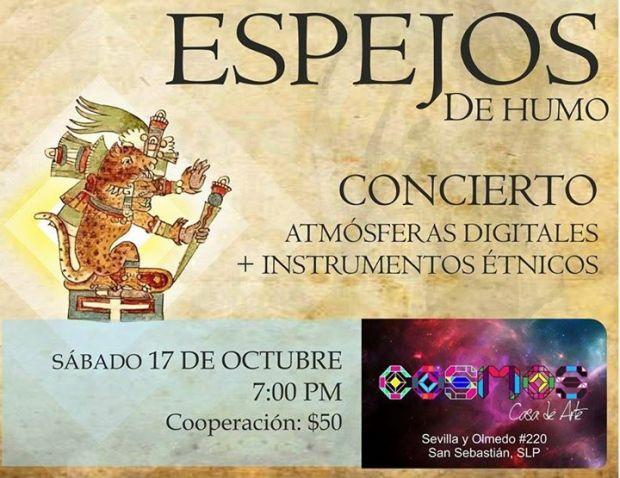 Concierto: Atmósferas Digitales+Instrumentos Étnicos @ Cosmos