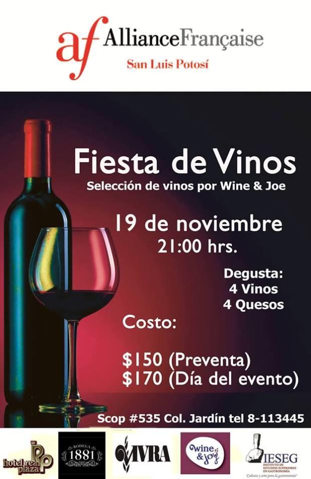 Fiesta de Vinos en la Alianza Francesa @ Alianza Francesa | San Luis Potosí | San Luis Potosí | México