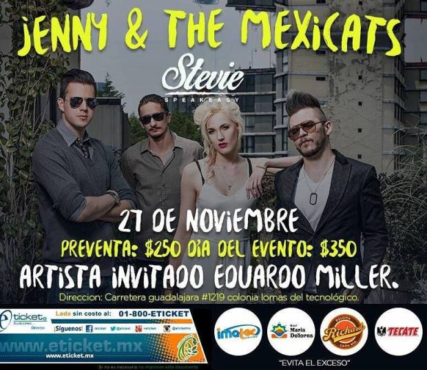 Jenny and The Mexicats @ Stevie | San Luis Potosí | San Luis Potosí | México