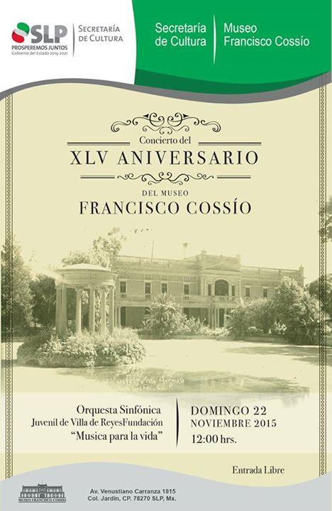 Concierto del XVL Aniversario del Museo Francisco Cossío @ Museo Francisco Cossío