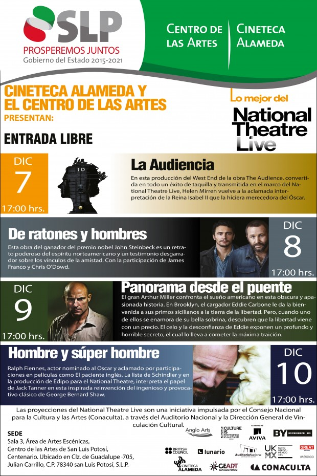 NATIONAL THEATRE LIVE cartel
