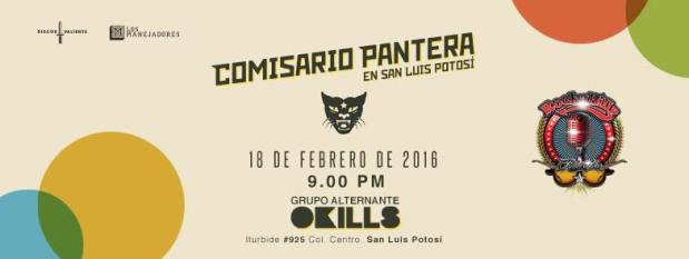 Comisario Pantera en San Luis Potosí @ Rockabilly Bar
