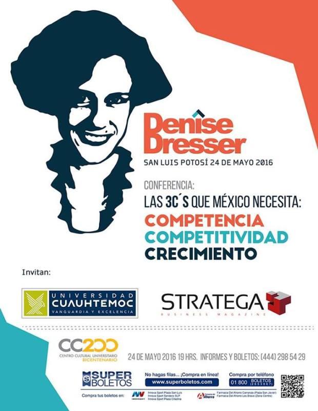 Denise Dresser en San Luis Potosí @ Centro Cultural Universitario Bicentenario