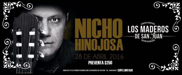 Nicho Hinojosa en los Maderos de San Juan