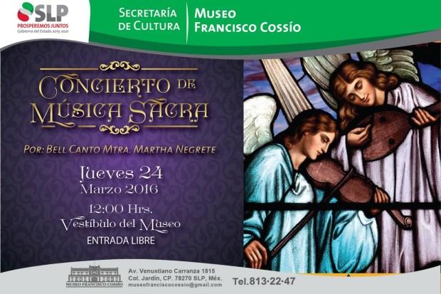 Concierto de música sacra - Semana Santa 2016 @ Museo Francisco Cossío
