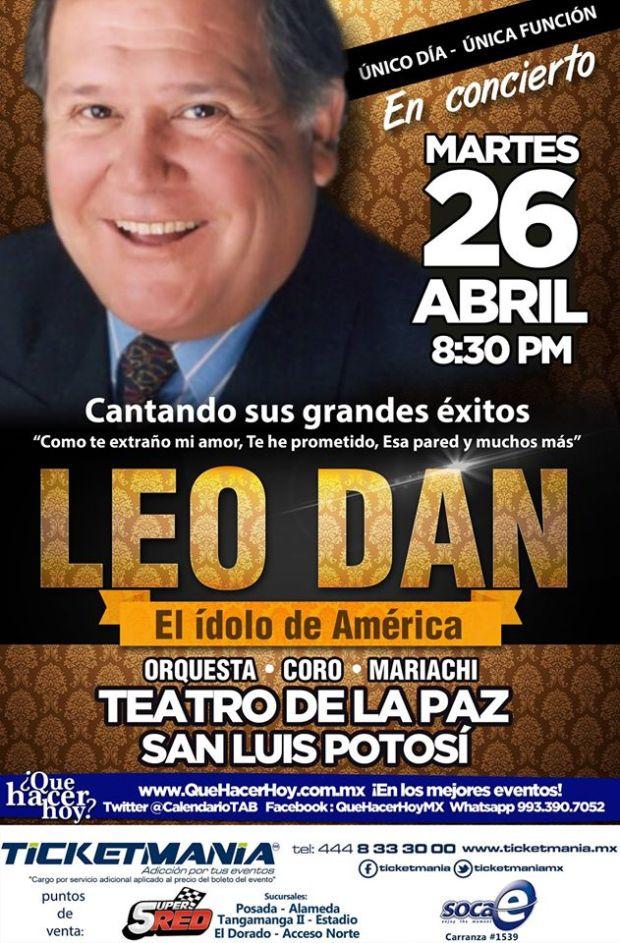 Leo Dan en San Luis Potosí @ Teatro de la Paz