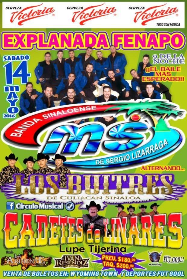 Banda MS en San Luis Potosí @ Explanada de la Fenapo