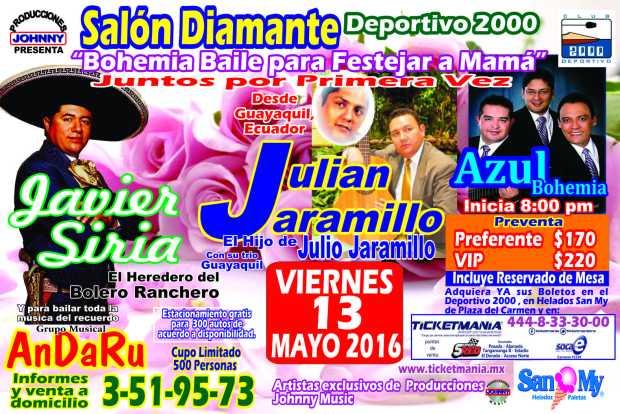 Bohemia Baile para Festejar a Mamá @ Club Deportivo 2000 | San Luis Potosí | San Luis Potosí | México