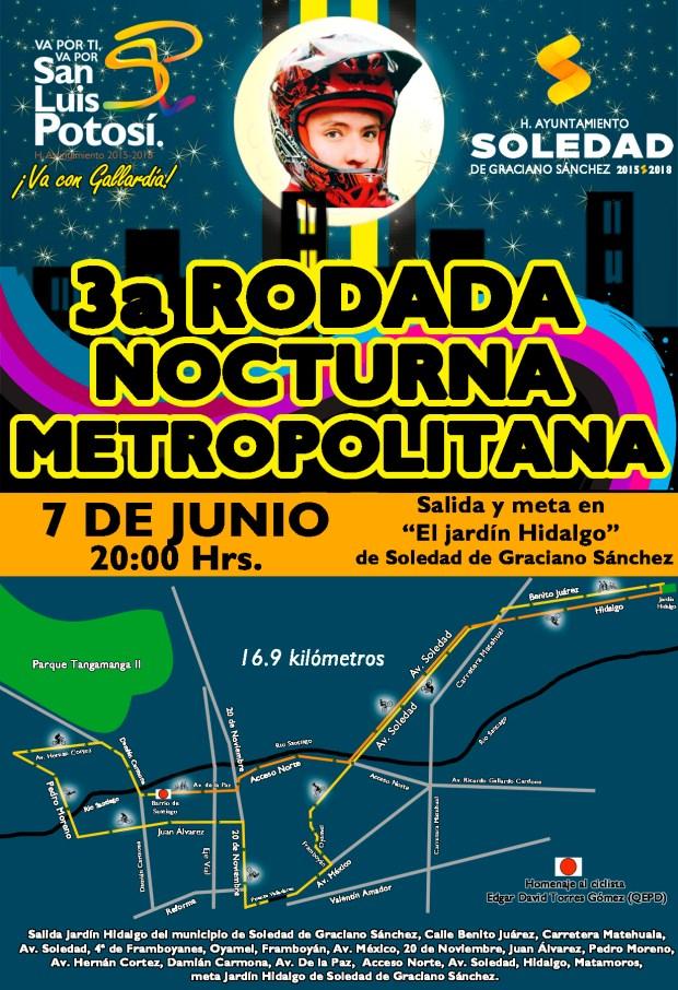 3ª Rodada Nocturna Metropolitana @ Jardín Hidalgo | Soledad de Graciano Sánchez | San Luis Potosí | México
