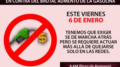 Photo of Invitan a manifestación contra gasolinazo en Plaza Aranzazú