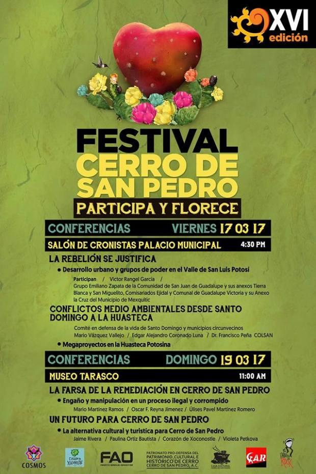 Cerro de San Pedro a debatir el futuro @ Centro Cultural Palacio Municipal