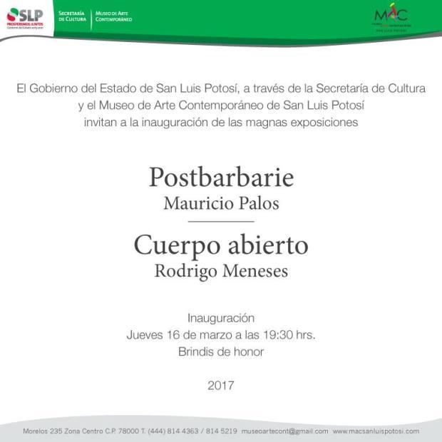 """Inauguración de """"Postbarbarie"""" y """"Cuerpo abierto"""" @ Museo de Arte Contemporáneo"""