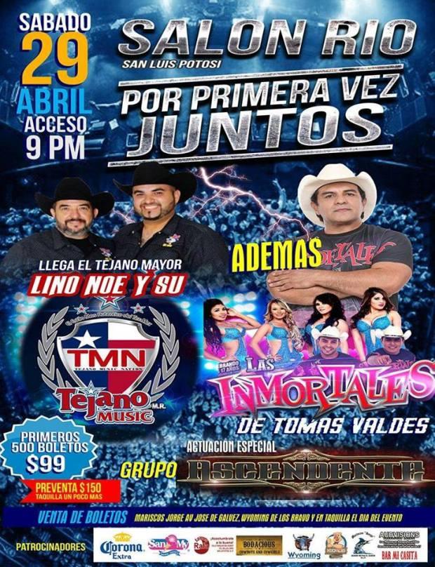 Lino Noe y su TMN / Las Inmortales de Tomas Váldes @ Centro de Convenciones Río  | San Luis Potosí | San Luis Potosí | México