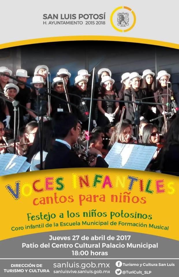 """""""Voces infantiles"""" cantos para niños @ Centro Cultural Palacio Municipal"""