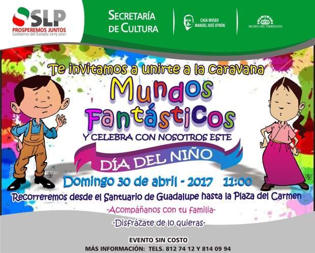 Mundos fantásticos:  caravana para celebrar el día del niño @ Plaza del Carmen