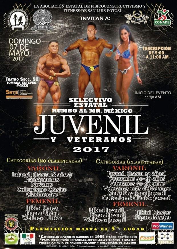 Selectivo estatal rumbo al Mr. México juvenil y veteranos @ Teatro de la Sección 52 | San Luis Potosí | San Luis Potosí | México
