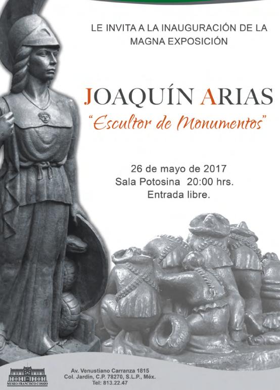 "Inauguración de ""Escultor de monumentos"" de Joaquín Arias @ Museo Francisco Cossío"