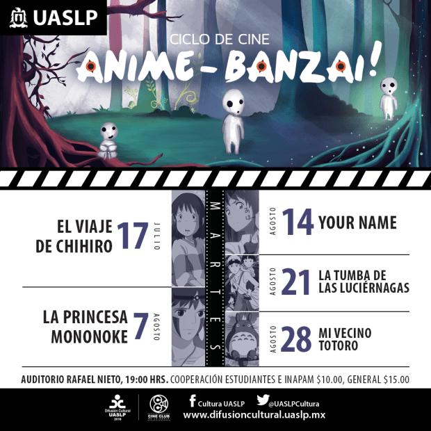 Ciclo de Cine: Anime Banzai @ Auditorio Rafael Nieto