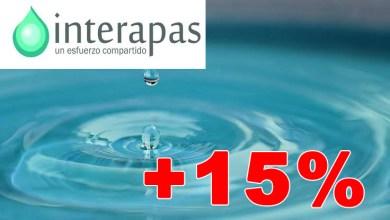 Photo of Interapas propone un aumento del 15% a la tarifa del agua