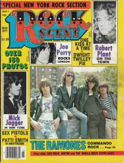rock scene vintage punk magazine