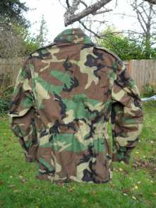 US Camo Jacket Back