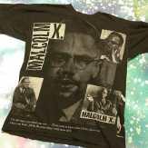 METROPOLIS T-SHIRT MADNESS: MALCOM X T-Shirt! #metropolis #metropolisvintage #metropolisnycvintage #metropolistshirts #metropolistshirtmadness #vintagetshirts #tshirts #malcomx