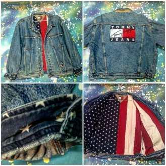 METROPOLIS VINTAGE presents TOMMY HILFIGER WEEK! Here we have an amazing Tommy denim jacket with American flag lining! #metropolis #metropolisnycvintage #metropolisvintage #tommyhilfigerph #hilfiger #tommyhilfiger