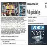 METROPOLIS named BEST VINTAGE STORE in the VILLAGE VOICE BEST OF 2015 issue! Thanks to the Village Voice and all of our loyal patrons, friends, and family! #metropolis #metropolisnycvintage #metropolisvintage #villagevoice #villagevoicebestofnyc #bestofnyc #bestofnyc2015 #eastvillage #nyc #eastvillagevintagestore #ladygaga