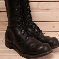 1950s combat boots at our Etsy store #combatboots #militaryboots #vintageboots #vintagemilitary #boots #nycvintage #etsyshoes #punk #punkclothing