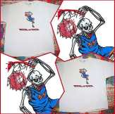 """Just in! """"MICHAEL IS BACK"""" Michael Jordan T-Shirt featuring his skeleton returning for a slam dunk. We found a few of these but they're going fast! Check METROPOLISTSHIRTS on ETSY to get yours! http://www.etsy.com/shop/METROPOLISTSHIRTS"""