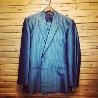 Swanky blue striped suit in stock! #metropolisnyc #metropolisvintage #suits