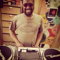 Mick Collins currently handling DJ duties at Metropolis Vintage Spring Fling Sale! C'mon down! #metropolisvintage #metropolisvintagenyc #cultrecords #metropolisvintagespringflingsale