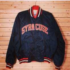 Syracuse Starter Jacket Size XXL http://etsy.me/11UVXZV #syarcuse #syracusedorms #syracusealumni #starter #starterjacket #vintagestarter #backintheday #vintagestarterjacket
